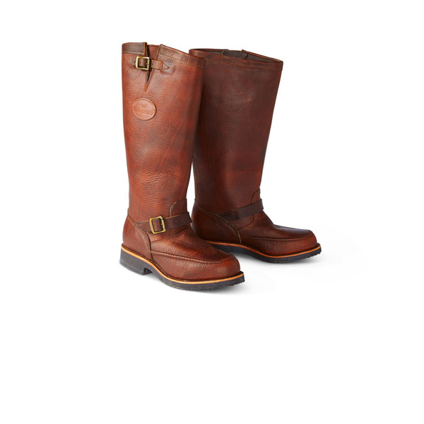 9f7e01b6ca5 Moccasin Toe Leather Snake Boots